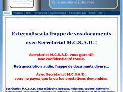 photo de FRAPPE DE MANUSCRITS, RETRANSCRIPTION AUDIO, SAISIE DE DOCUMENTS DIVERS... avec Secrétariat M.C.S.A.D.