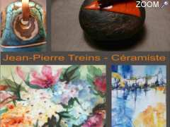 photo de expos Tours, Annie Peris, peinture, Jean-Pierre Treins, céramique, galerie d'art, LeTunnel 37