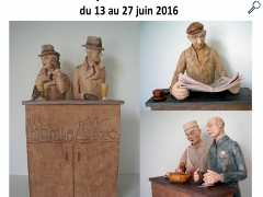 "photo de exposition Sculptures ""Zincs"""