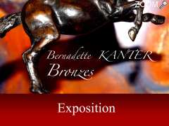photo de Exposition Bernadette Kanter Bronzes animaliers